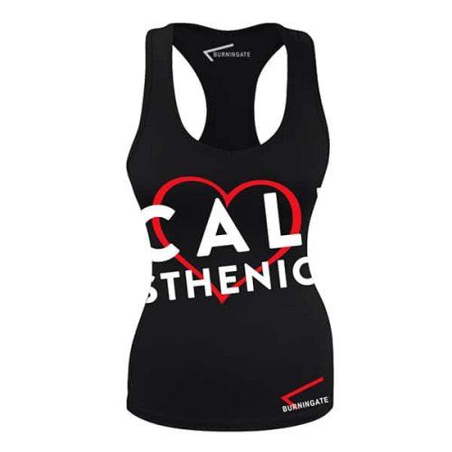 canotta donna calisthenics black