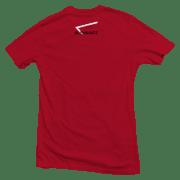 t-shirt calisthenics back red