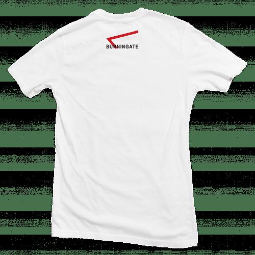 t-shirt calisthenics back white