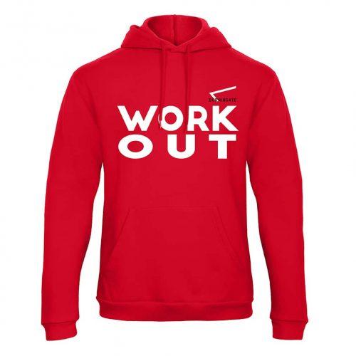 felpa street workout rossa