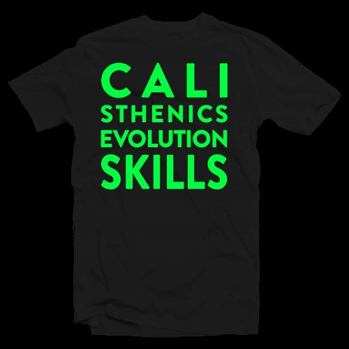 shirt Calisthenics Evolution Skills Verde Fluo